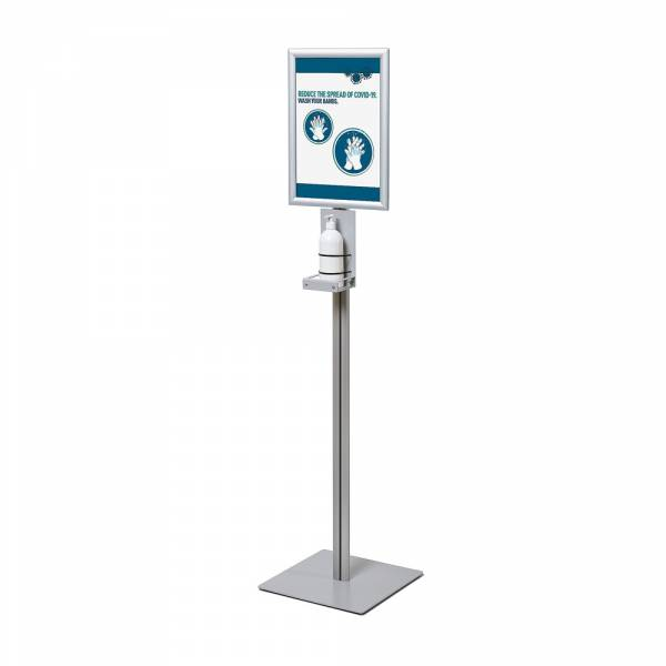 Hand Sanitiser Station with Snap Frame