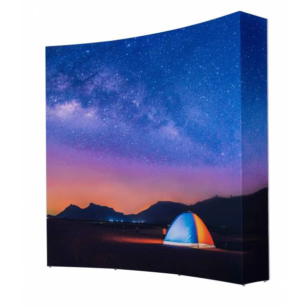 Pop-Up Impress Graphic 3x3 Curved front incl Sides