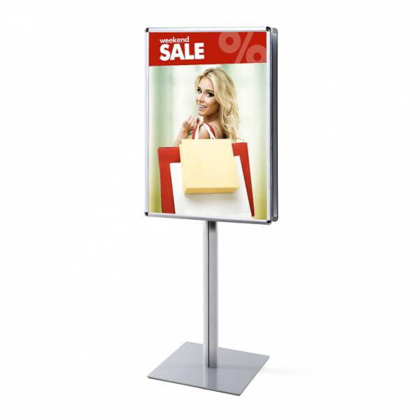 Info Pole 70x100 25mm Rondo corners double sided