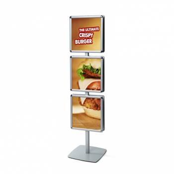 Info Pole Multi Poster frame 400x400 Rondo Corners 25mm
