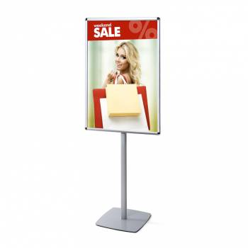 Info Pole with 25mm Snap Frame, RondoCorner, 700x1000mm