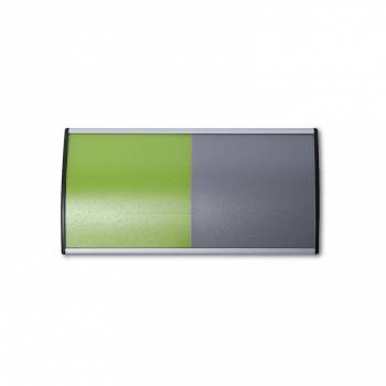 Curved sliding wall door sign 105mm x 210mm