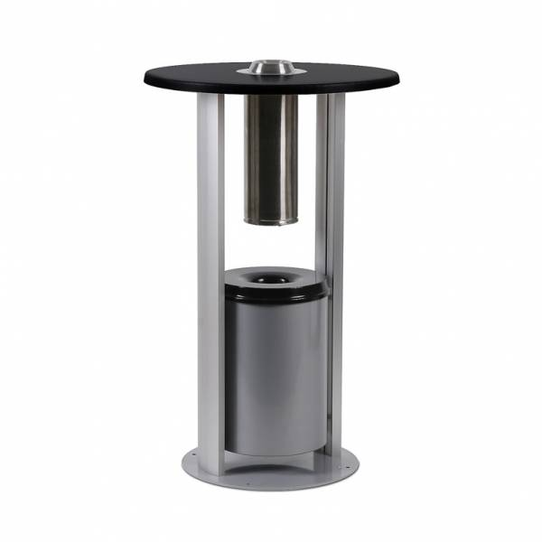 Smoking Table with metal base and weather resistant top