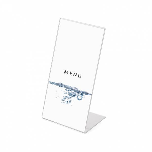 Acrylic L Stand Menu Holder