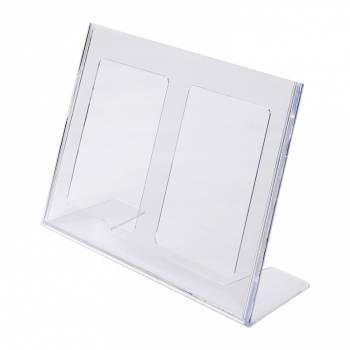 A4 Landscape Leaflet Holder - Menu Stand - Injection moulded