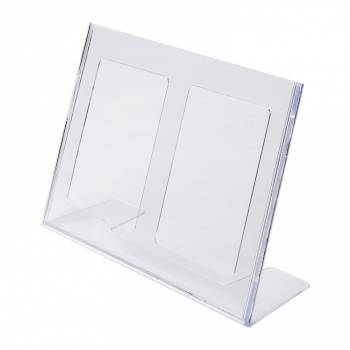 A4 Landscape Leaflet Holder - Menu Stand - Injection moulded