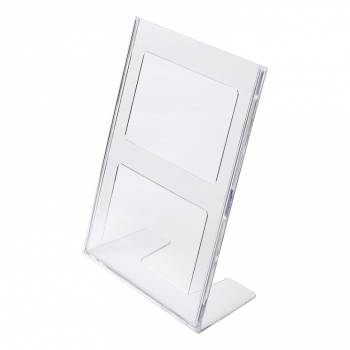 A4 Portrait Leaflet Holder Menu Stand - Injection moulded