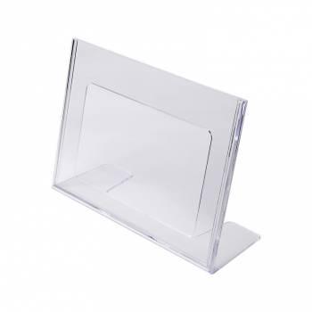 A5 Landscape Leaflet Holder - Menu Stand - Injection moulded