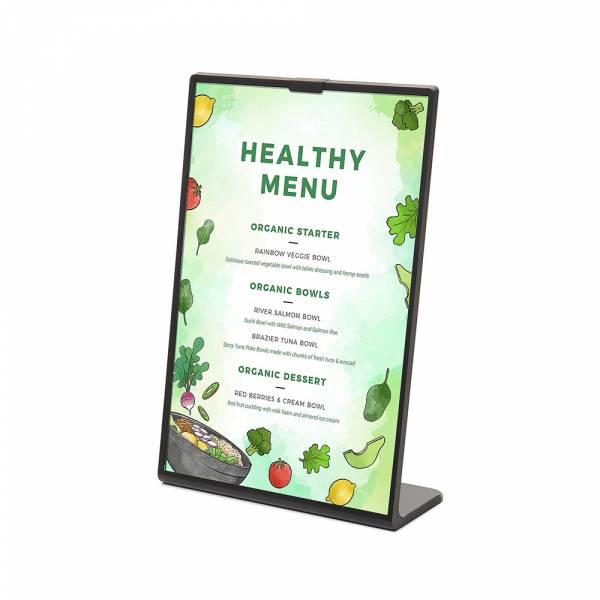 Scritto menu stand - L Stand