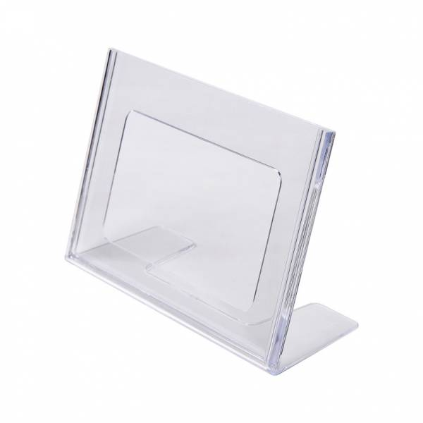 A6 Landscape Leaflet Holder - Menu Stand - Injection moulded