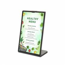 Black Menu Stand - L Shape