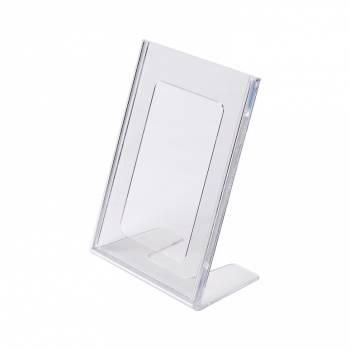 A6 Portrait Leaflet Holder - Menu Stand - Injection moulded