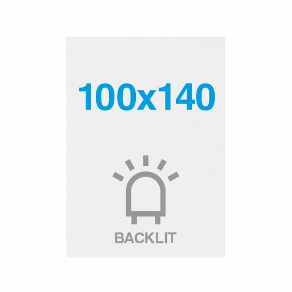Premium backlit film 200g/m2, satin surface, 1000x1400mm