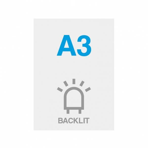 Premium backlit film 200g/m2, satin surface, 297x420mm