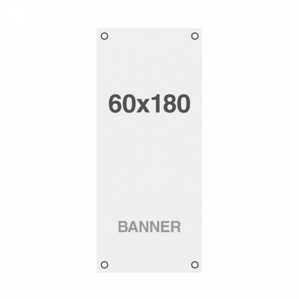 Premium banner print, No Curl 220g / m2, matte finish, 60x180cm