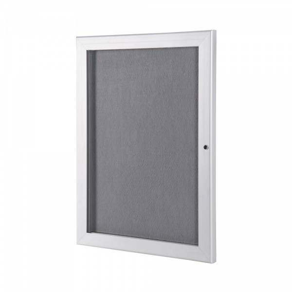 Outdoor Economy Felt Notice Board with Grey felt pinboards, A4