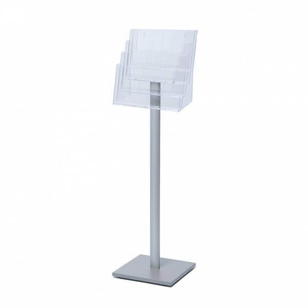 Freestanding Brochure unit with square MFC base  for DL, A5P & A4L