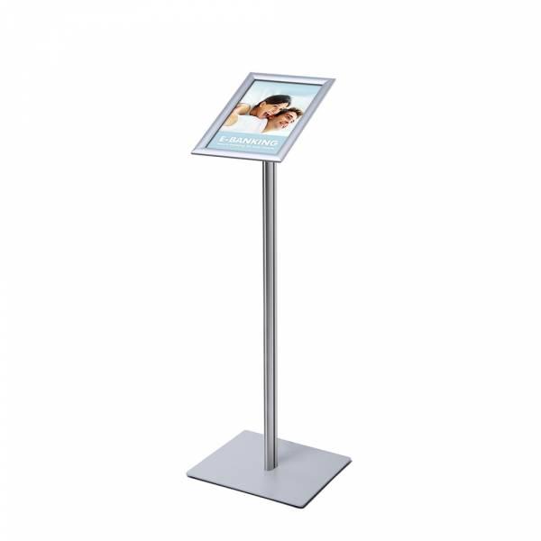 A4 Menu Display Stand, 25 mm, SECH pole, metal base