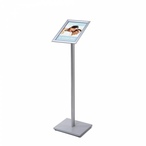 A4 Menu Display Stand, 25 mm, SECH pole, wooden base