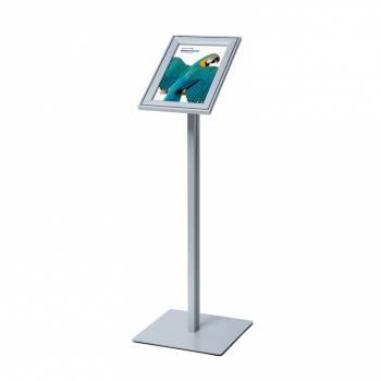 Premium Menu Stand - A4 & A3 Compasso® snap frame in silver