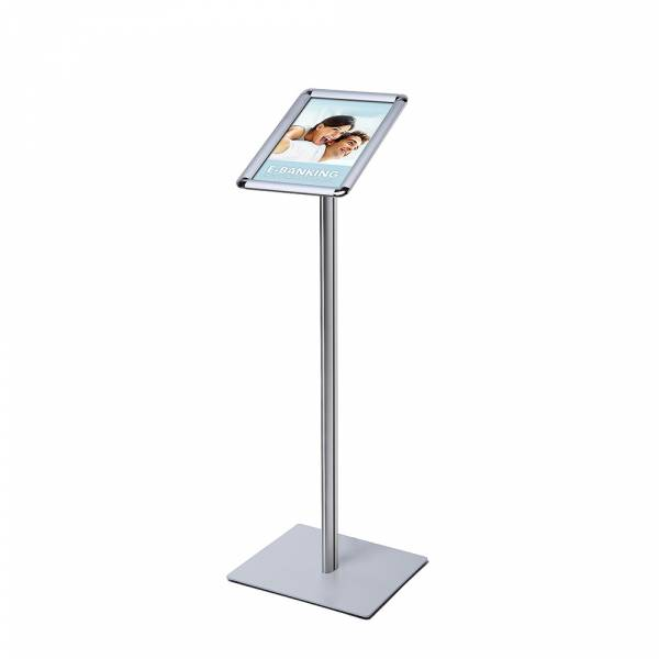 A4 Menu Display Stand, 25 mm, SECH pole, metal base