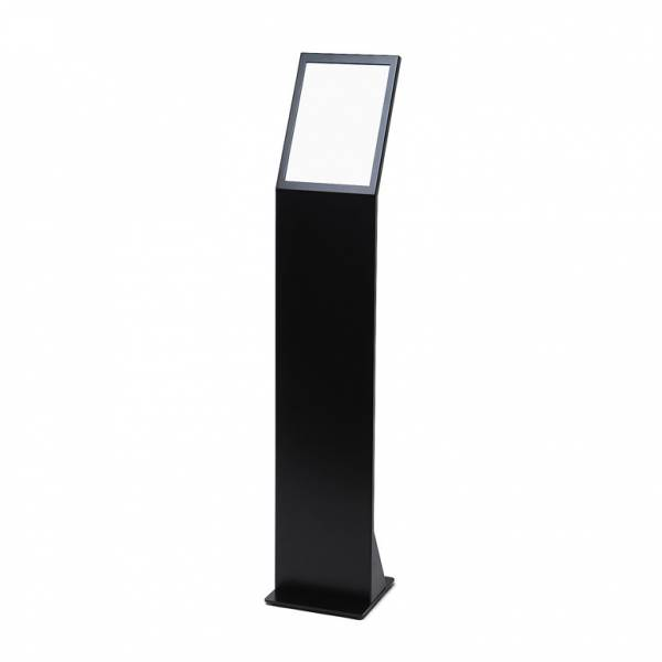 Premium A4 Black Menu Stand with magnetic A4 acrylic pocket