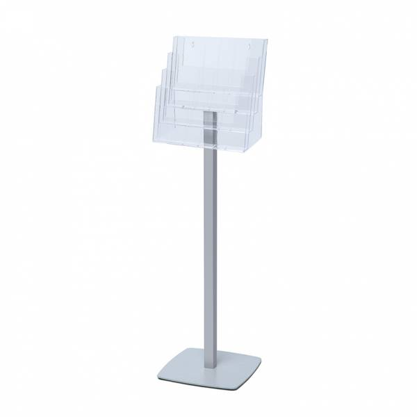 Freestanding Brochure unit with square steel base  for DL, A5P & A4L