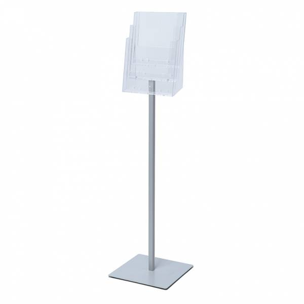 Premium A4 flyer stand, 3 profile pockets