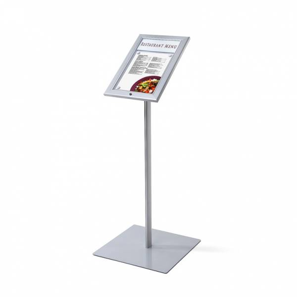 Outdoor Menu Display - Silver - Freestanding - Indoor & Outdoor