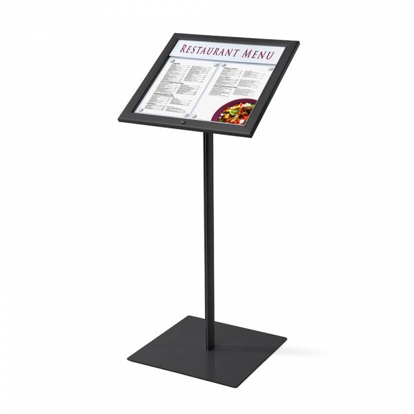 Menu board with case 2xA4, RAL9005
