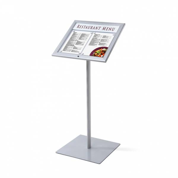 Outdoor lockable Menu Stand 2xA4