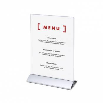 Premium Menu Holder - Aluminium push fit base