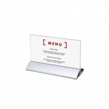 Aluminium Menu Card Holder DL horizontal