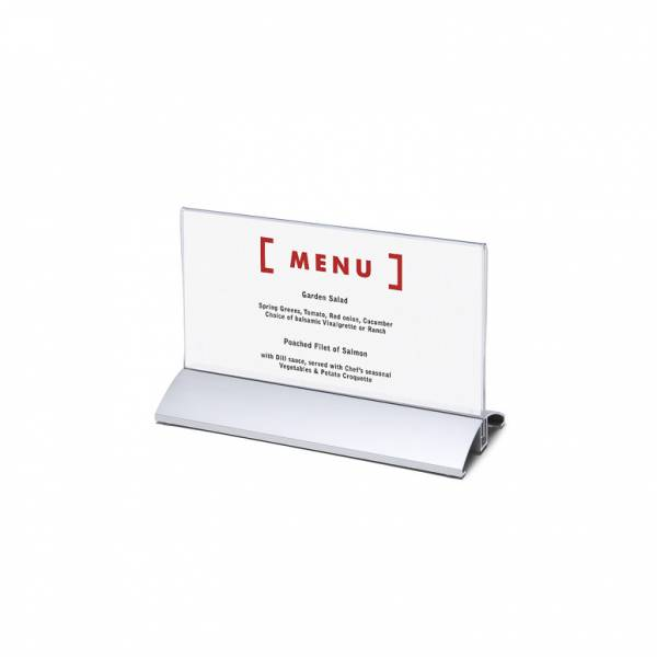 Aluminium Menu Card Holder DL horizontal