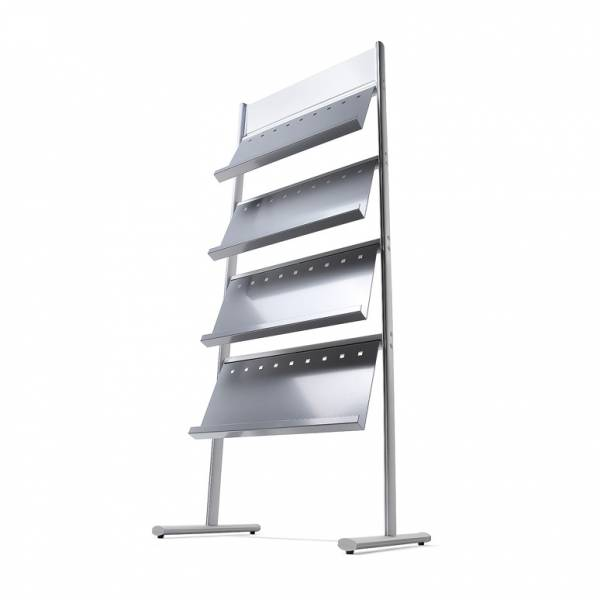 Multipocket Brochure Stand - 4 shelves