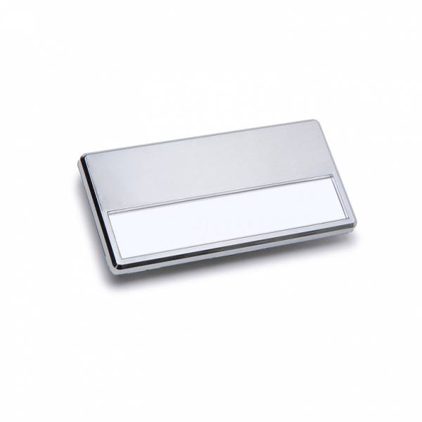 Magnetic Name Badge, Silver