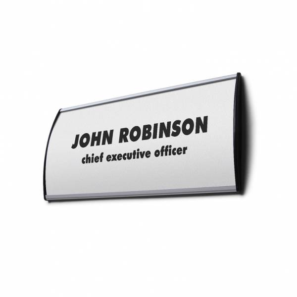 Curved Sign holder - Wall sign holder - Door Sign holder