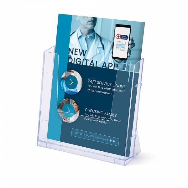 A4 Portrait Leaflet Holder - Wall & Counter Display