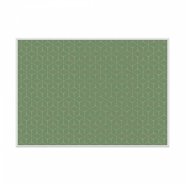 Placemat Hexagon Green