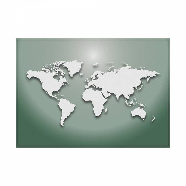 Placemat World Map Green