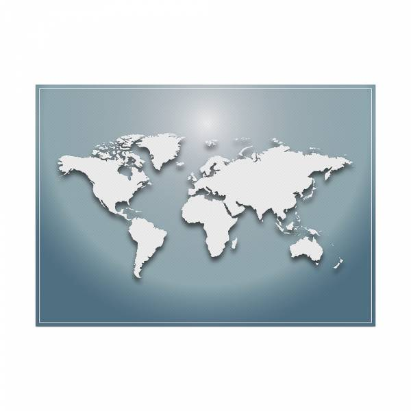 Placemat World Map Blue