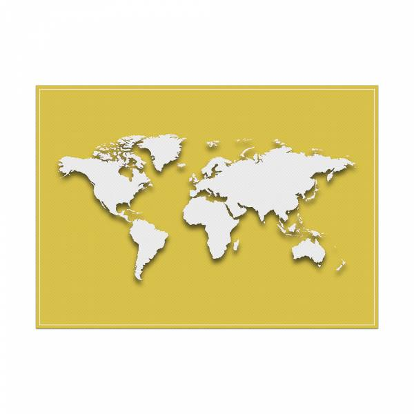 Placemat World Map Yellow