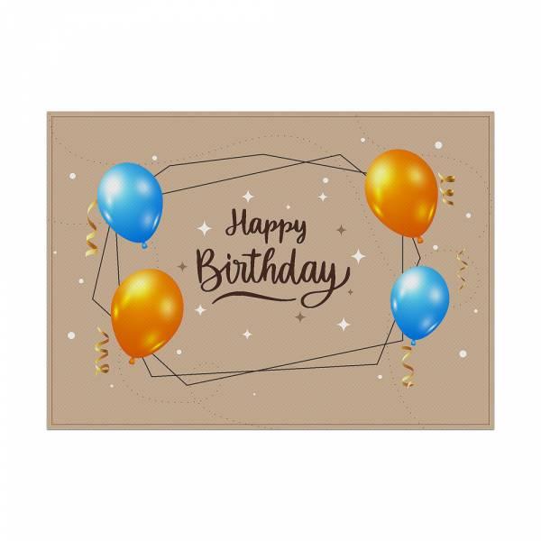Placemat Birthday Beige