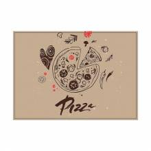 Placemat Pizza Abstract