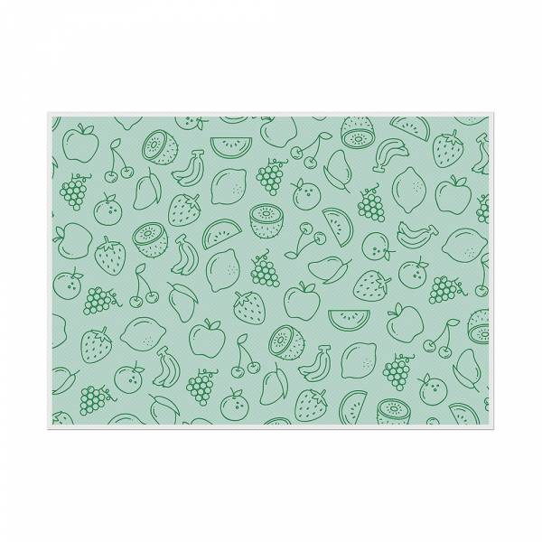 Placemat Fruits Abstract Green