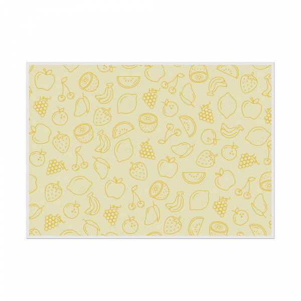 Placemat Fruits Abstract Yellow