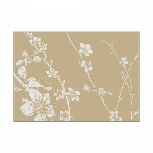 Placemat Abstract Blossom Beige