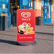 Flexible Pavement Sign with printable panel