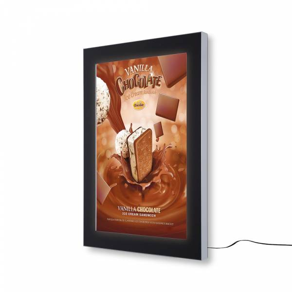 Outdoor notice board SCEOS DIN A1, LED lighting