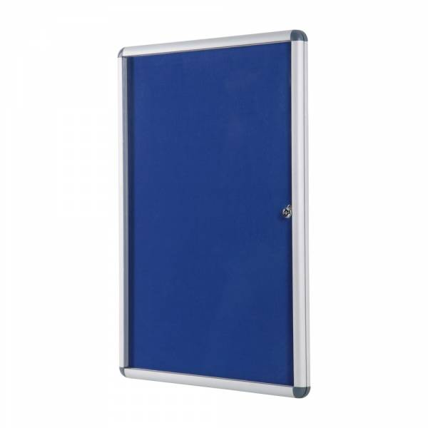 Lockable Fabric Noticeboard - Blue (90x120)